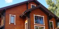 Защита фасада деревянного дома